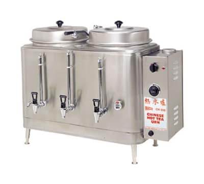 Cecilware CH75N Single Chinese Hot Tea Urn w/ 3-gal/Liner Capacity, Fresh Water, 208v/3ph