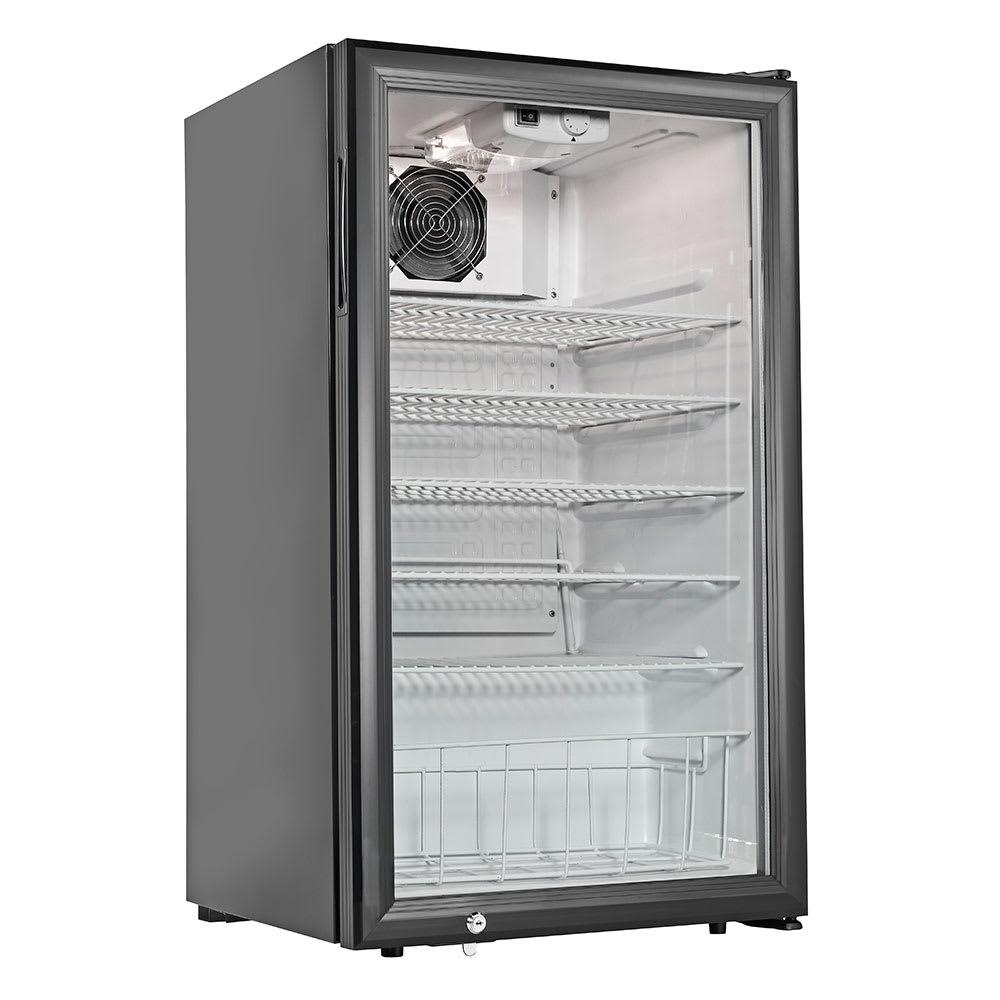 """Cecilware CTR3.75 19"""" Countertop Refrigerator w/ Front Access - Swing Door, Black, 120v"""