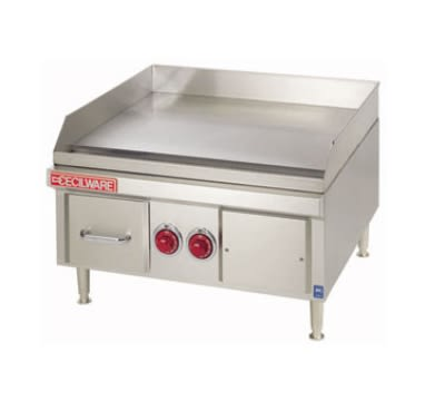 """Cecilware EL1836 36"""" Electric Griddle - Thermostatic, 5/8"""" Steel Plate, 208v/1ph"""