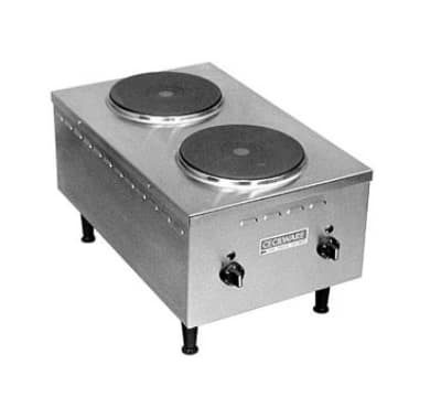 "Cecilware EL24SH 15"" Electric Hotplate w/ (2) Burners & Infinite Controls, 208v/1ph"