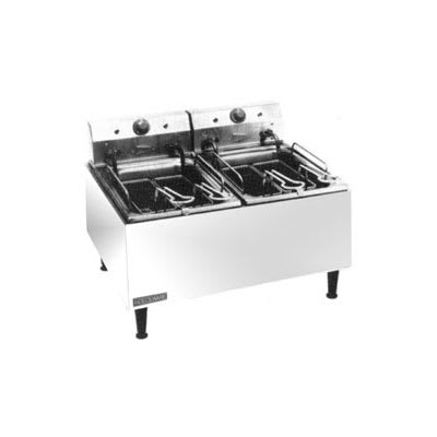 Cecilware ELT500 Countertop Electric Fryer - (2) 30-lb Vat, 240v/1ph