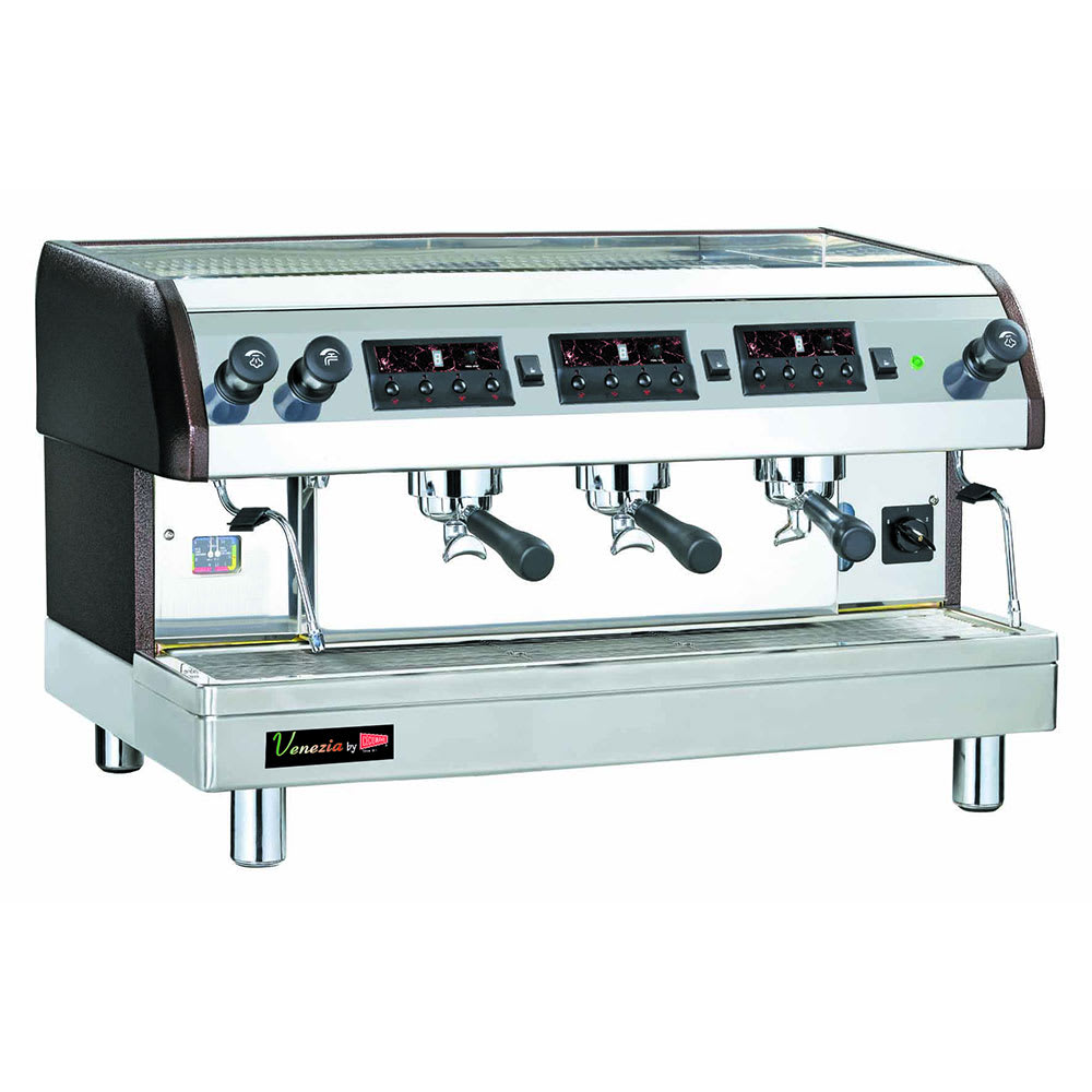 Cecilware ESP3-220V Triple Espresso Machine w/ 720-Cups/hr Capacity, Automatic, 240v