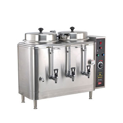 Cecilware FE100N-102416 Twin 3 Gal Automatic Coffee Urn - Stainless, 208v/1ph