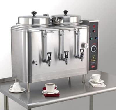 Cecilware FE100N-102425 Twin Coffee Urn w/ 3-gal/Liner Capacity, Automatic, Half Batch, 240v/1ph