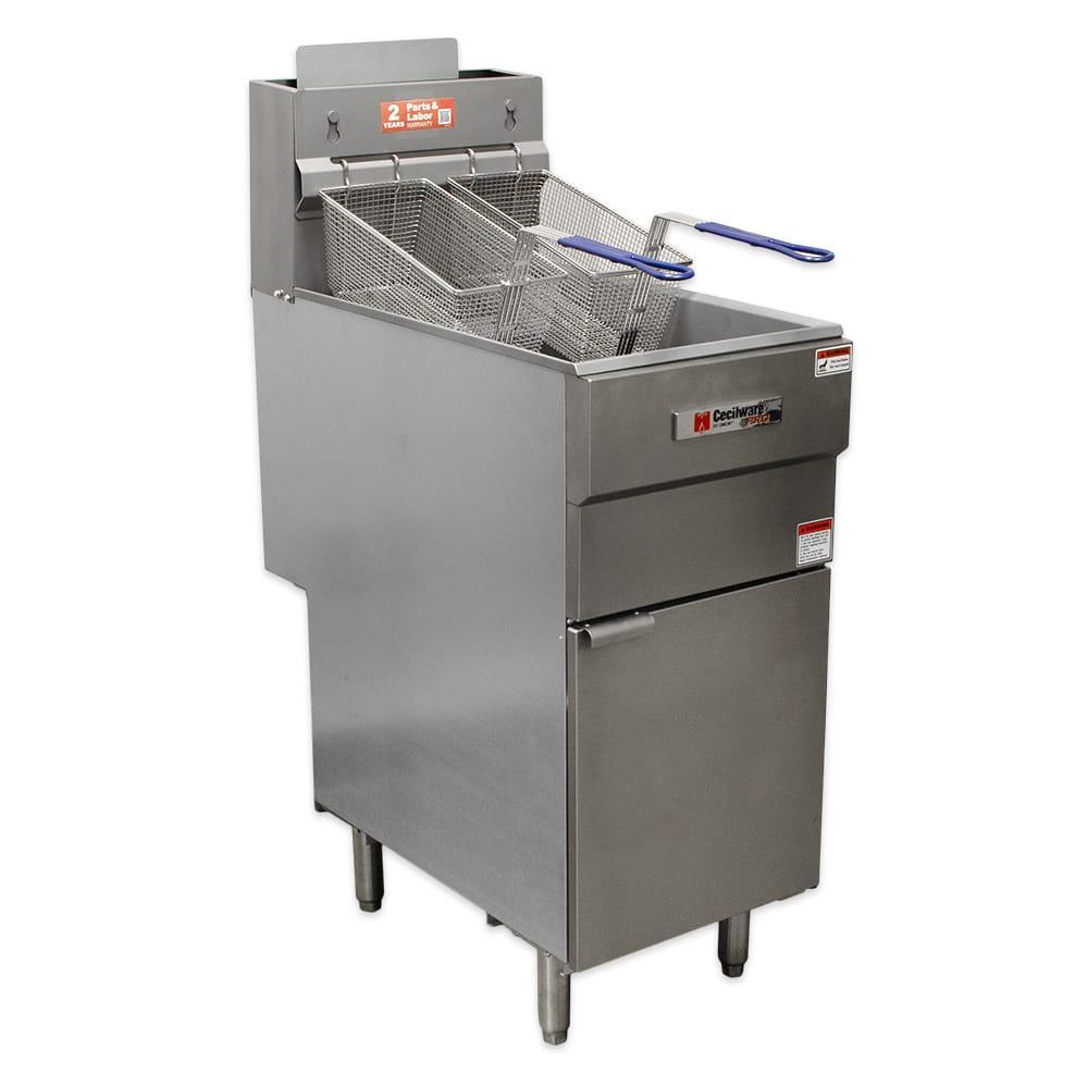 Cecilware FMS403LP Gas Fryer - (1) 40-lb Vat, Floor Model, LP
