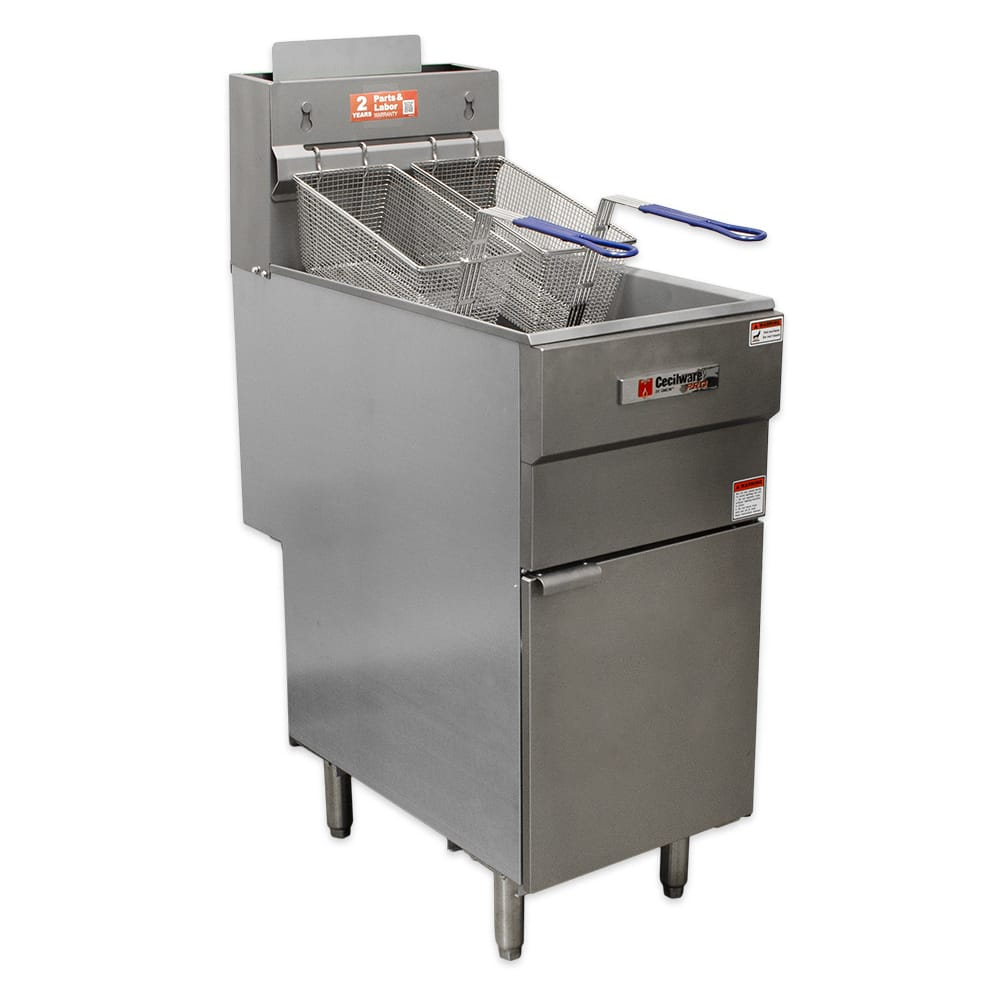 Cecilware FMS403NAT Gas Fryer - (1) 40-lb Vat, Floor Model, NG