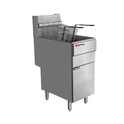 Cecilware FMS504LP Gas Fryer - (1) 50 lb Vat, Floor Model, LP
