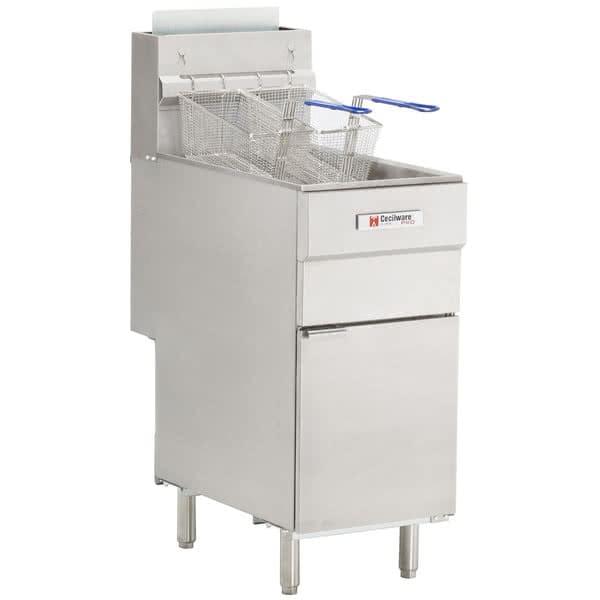Cecilware FMS504 Gas Fryer - (1) 50 lb Vat, Floor Model, NG