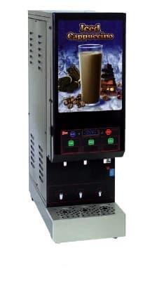 Cecilware GB3M10-IT-LD-C 3-Flavor Cappuccino Machine w/ (2) 5-lb & (1) 10-lb Hoppers, 120v