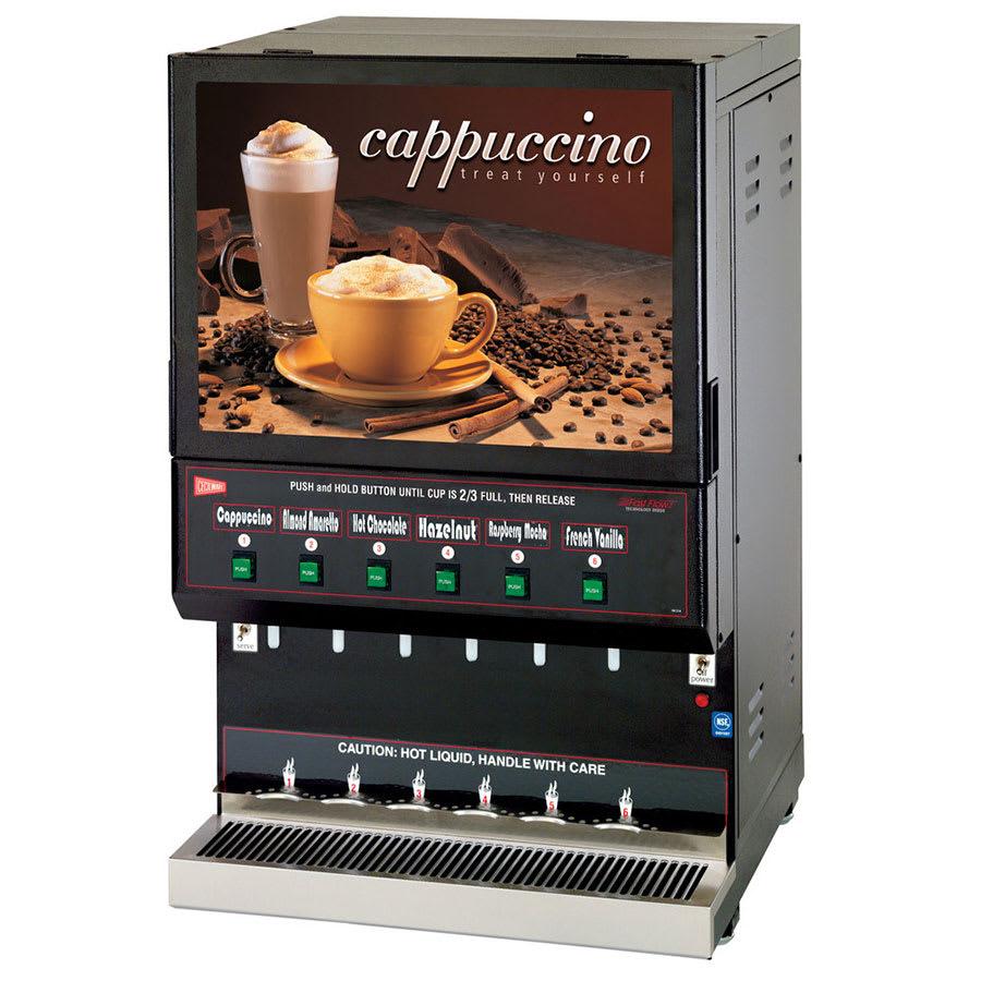 Cecilware GB6M10-LD-U 6-Flavor Cappuccino Machine w/ (1) 10-lb & (5) 5-lb Hoppers, 120v