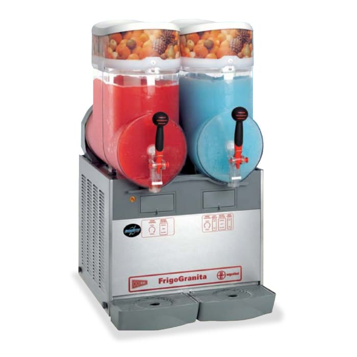 Cecilware GIANT2 Twin Slush Machine w/ 4 gal/Bowl Capacity, Manual Fill, 115v