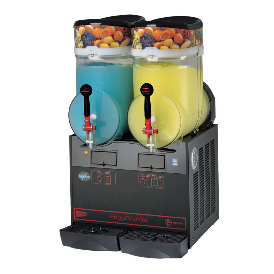 Cecilware GIANT2BL Twin Slush Machine w/ 4-gal/Bowl Capacity, Manual Fill, Black, 115v