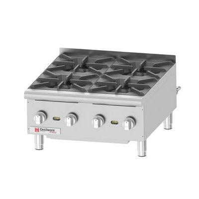 "Cecilware HPCP424 24"" Gas Hotplate w/ (4) Burners & Manual Controls"