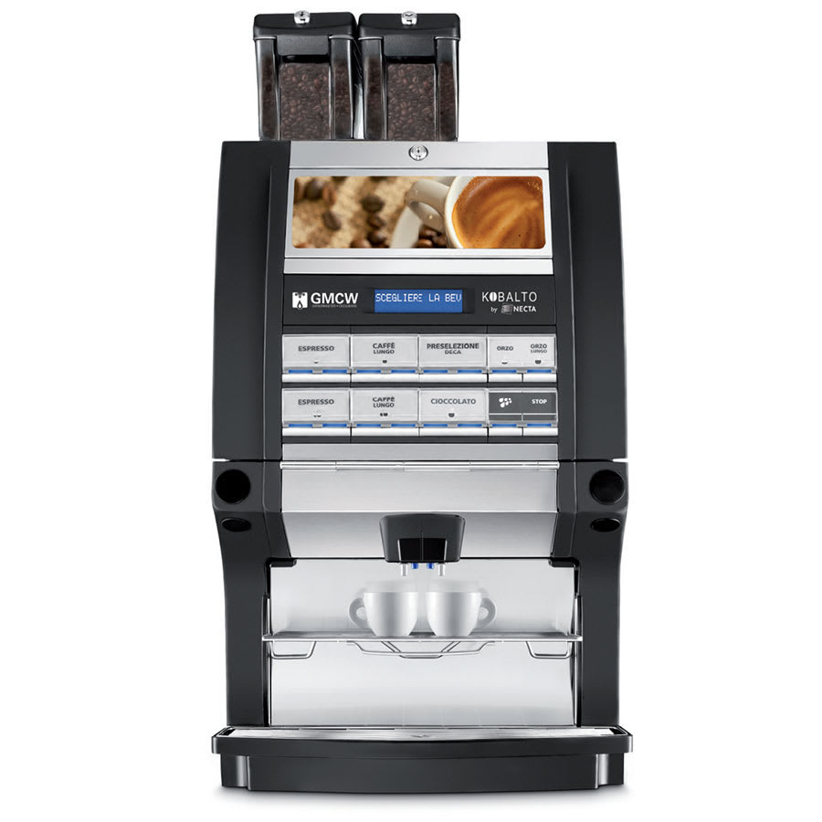 Cecilware KOBALTO1/3 Single Espresso Machine w/ (1) Coffee Bean & (3) Soluble Hoppers, Automatic, 240v