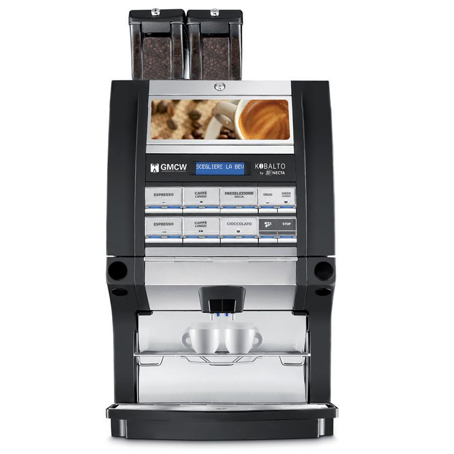 Cecilware KOBALTO2/2FM Single Espresso Machine w/ (2) Coffee Bean & (2) Soluble Hoppers, 240v