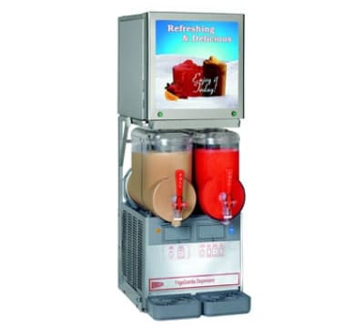 Cecilware MT2ULAF Twin Slush Machine w/ 2.5-gal/Bowl Capacity, Auto Fill, Stainless, 115v