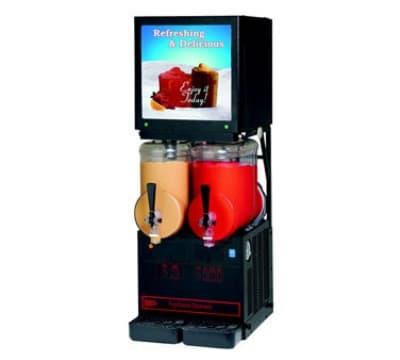 Cecilware MT2ULAFBL Twin Slush Machine w/ 2.5 gal/Bowl Capacity, Auto Fill, Black, 115v