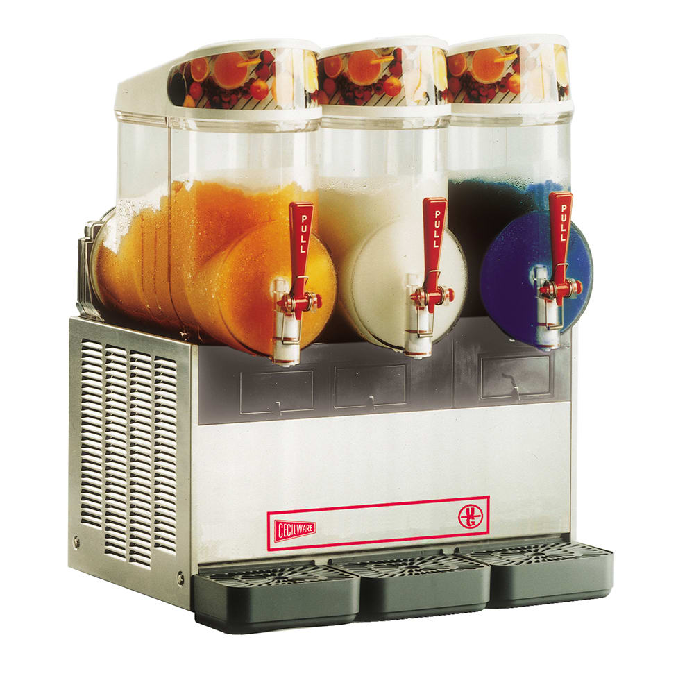 Cecilware NHT3UL Triple Slush Machine w/ 2.5-gal/Bowl Capacity, Manual Fill, 115v
