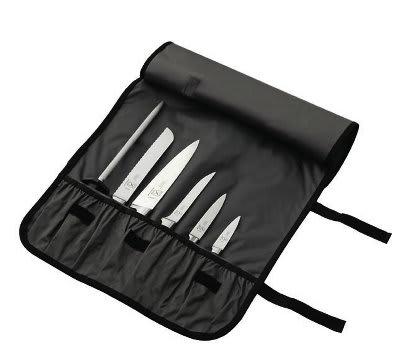 Mercer Cutlery M21800 Genesis Forged Knife Roll Set, 7-Piece Set