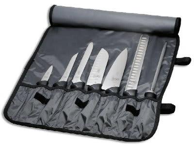 Mercer Cutlery M21820 Millennia High Carbon Knife Set w/ Nylon Roll, 8-Piece