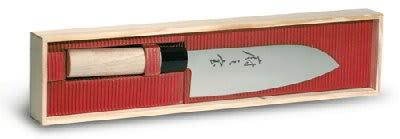 Mercer Cutlery M24407 7-in Santoku Knife w/ Granton Edge and Balsam Wood Handle
