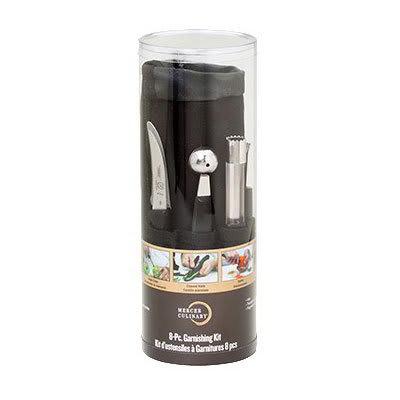 Mercer Cutlery M40000P 8-Piece Garnishing Kit w/ Heavy-Duty Nylon Storage Roll, Retail Packaged