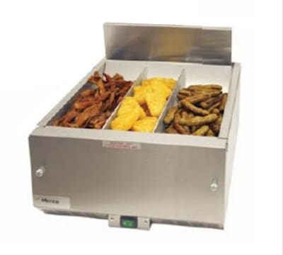 "Merco Savory 27019 10"" Countertop Fry Warmer Dump Station - Underburner, 120v"
