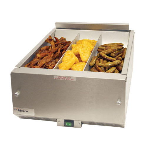 "Merco Savory FFHS16H-D1G11 16"" Drop-In Fry Warmer Dump Station - Underburner, 120v"