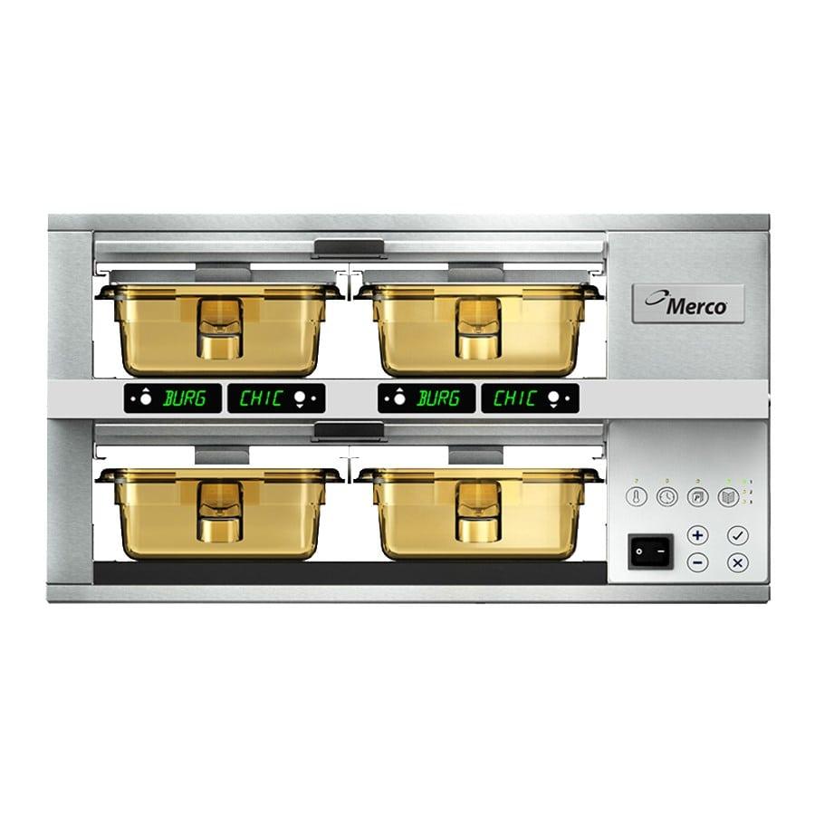 Merco Savory MHG22SAB2N 4-Pan Pass-Thru Heated Holding Cabinet - Stainless, 120v