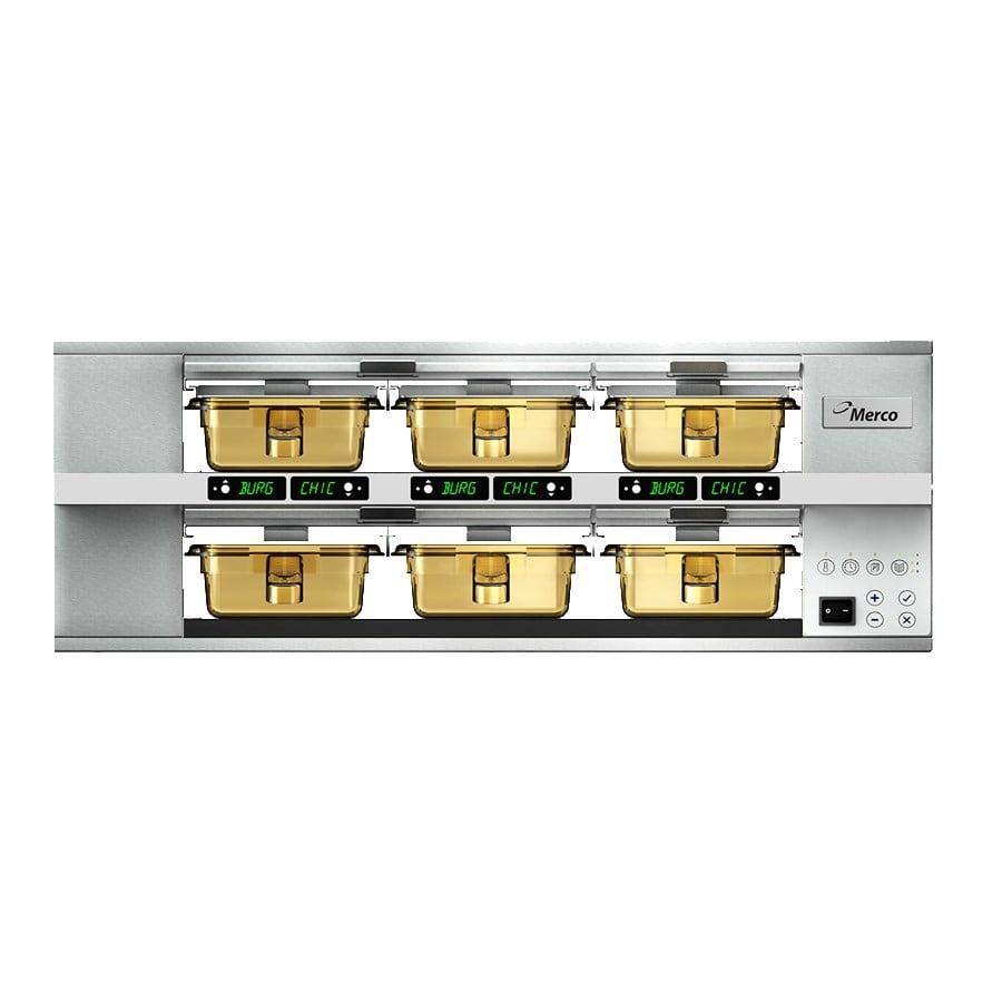 Merco Savory MHG23SAB2N 6-Pan Pass-Thru Heated Holding Cabinet - Stainless, 208-230v/1ph