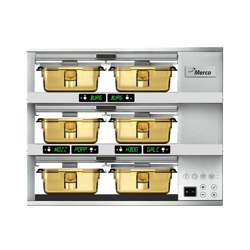 Merco Savory MHG32SAB2N 6 Pan Pass-Thru Heated Holding Cabinet - Stainless, 208 230v/1ph