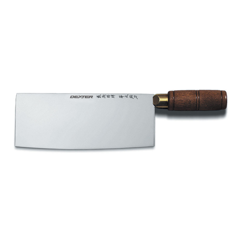 "Dexter Russell S5197W 7"" Chinese Chef's Knife w/ Walnut Handle, Carbon Steel"