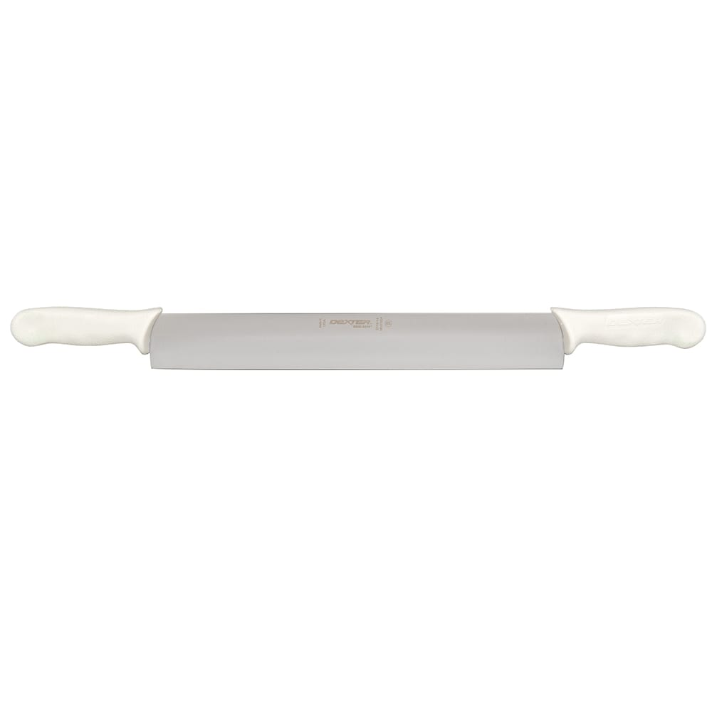 "Dexter Russell S118-14DH 14"" Sani-Safe® Cheese Knife w/ Polypropylene White Handle, Carbon Steel"