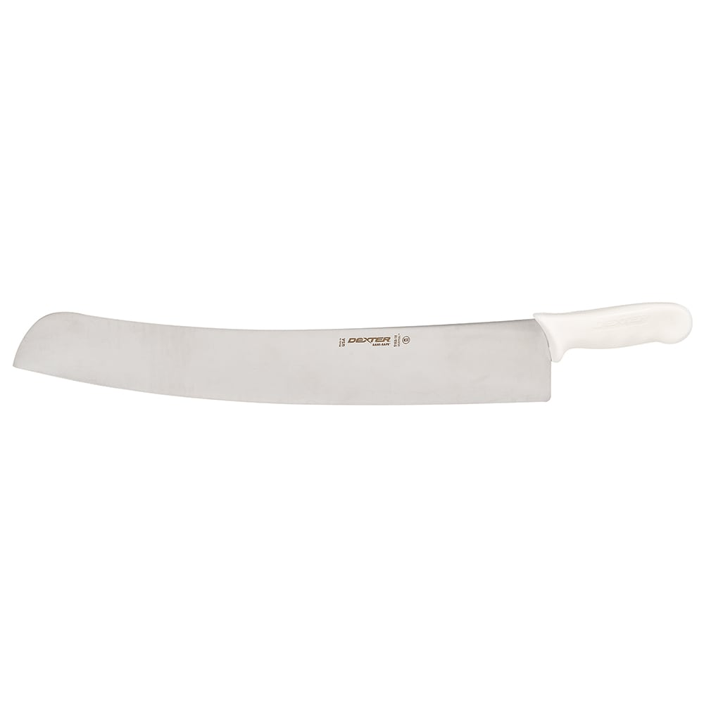 "Dexter Russell S160-18 18"" Sani-Safe® Pizza Knife w/ Polypropylene White Handle, Carbon Steel"