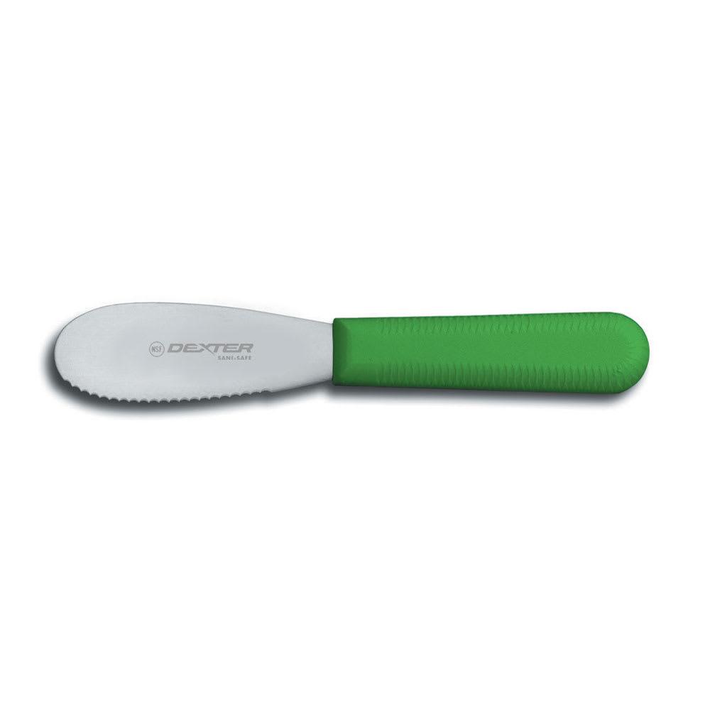 "Dexter Russell S173SCG-PCP 3.5"" Sani-Safe® Sandwich Spreader w/ Polypropylene Green Handle, Stainless Steel"