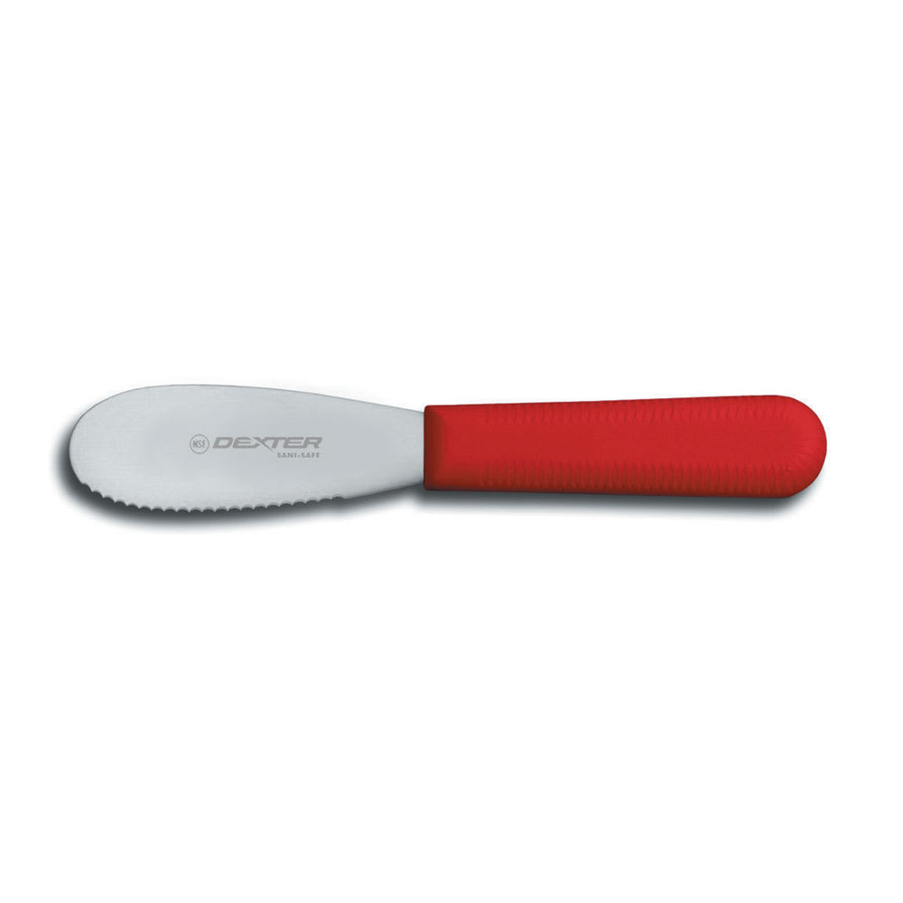 """Dexter Russell S173SCR-PCP 3.5"""" Sani-Safe® Sandwich Spreader w/ Polypropylene Red Handle, Stainless Steel"""