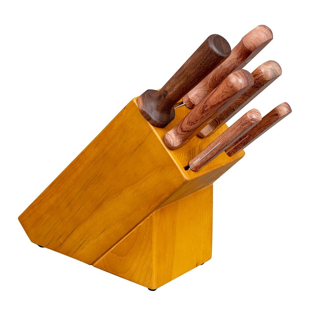 Dexter Russell BS6-8 6 Piece Knife Set w/ Slant Block