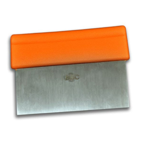 "Dexter Russell T3-6 ORG 6"" Scraper w/Orange Handle, Stainless Steel"