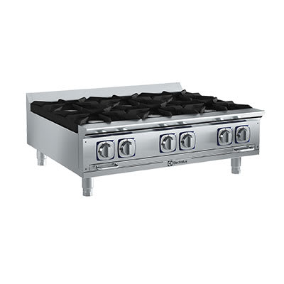 "Electrolux 169103 36"" Gas Hotplate w/ (6) Burners & Manual Controls, LP"