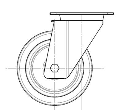 Electrolux 880123 Kit w/ 4-Swiveling Wheels, (2) w/ Brake