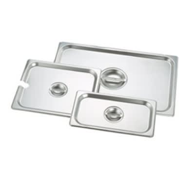 Crestware 5130 Steam Table / Holding Pan Cover, 1/3 Size, Flat, Stackable, Stainless