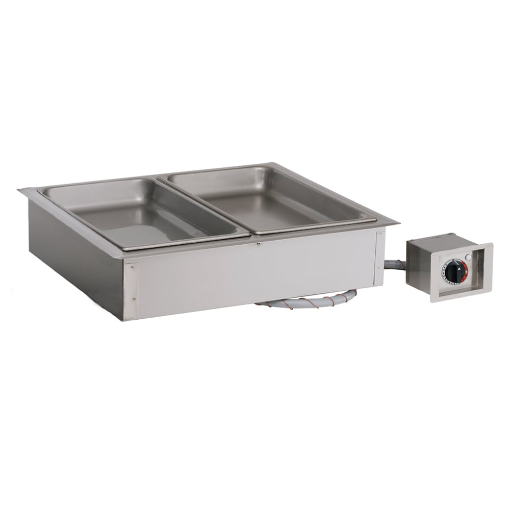 Alto Shaam 200-HW/D6 Drop-In Hot Food Well w/ (2) Full Size Pan Capacity, 230v/1ph