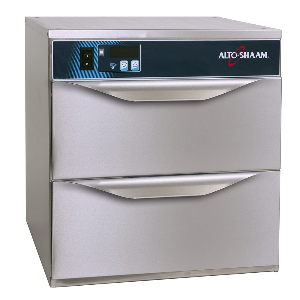 Alto Shaam 500-2DN 208 Narrow Warming Drawer w/ 50 Roll Capacity, Free-Standing, Stainless, 208 240v/1ph
