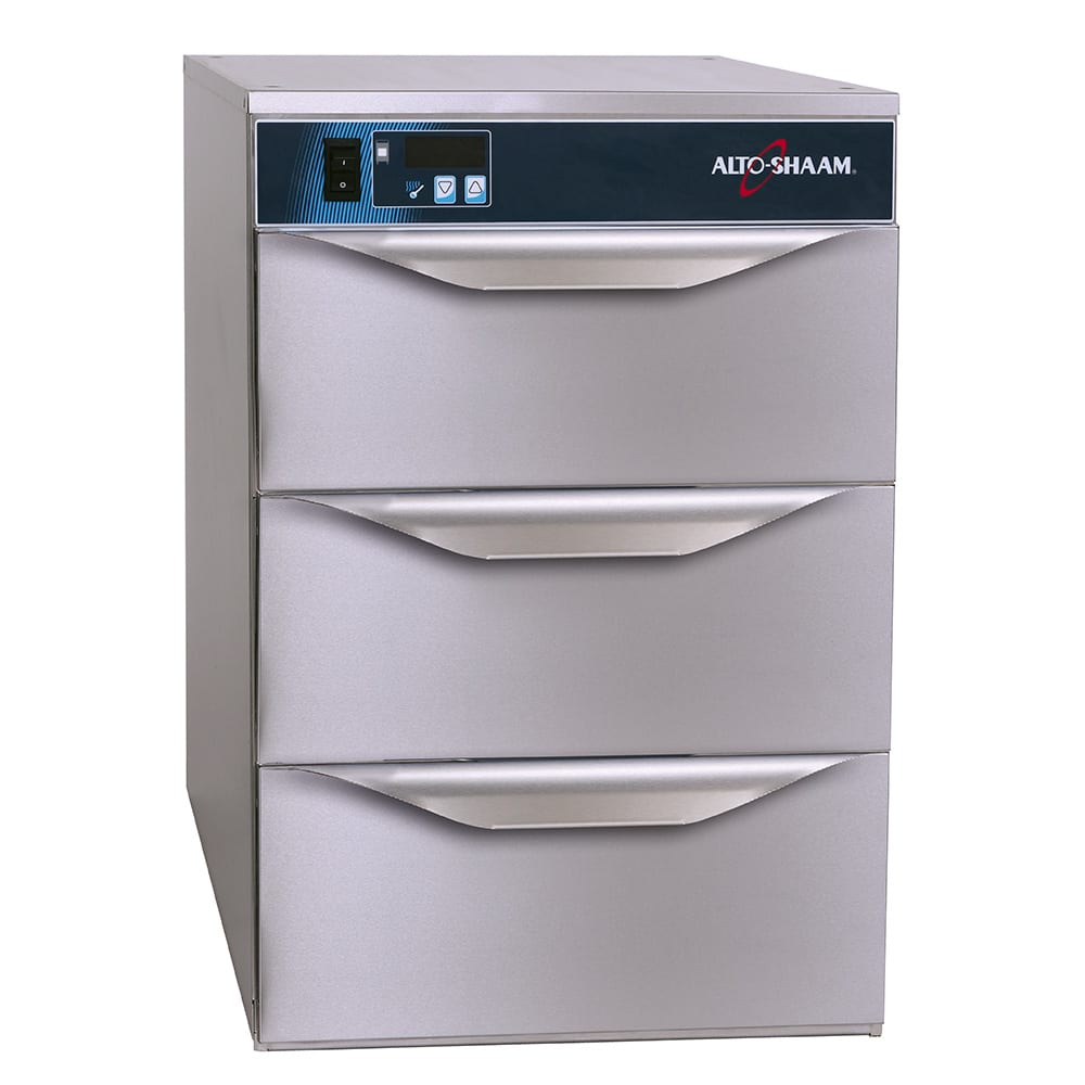 Alto Shaam 5003DN 3 Drawer Narrow Warmer, Adjustable Thermostat, Stainless, cUL, CE