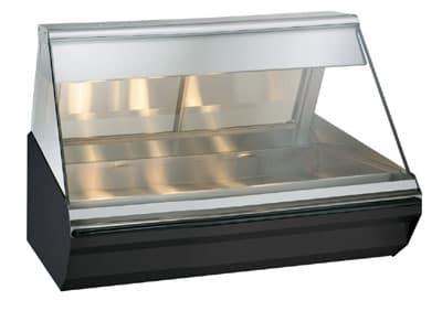 "Alto Shaam EC2-48/P-BLK 48"" Self-Service Countertop Heated Display Case - (1) Level, 120v/208-240v/1ph"