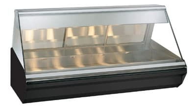 "Alto Shaam EC2-72-BLK 72"" Full-Service Countertop Heated Display Case - (1) Level, 120v/208-240v/1ph"