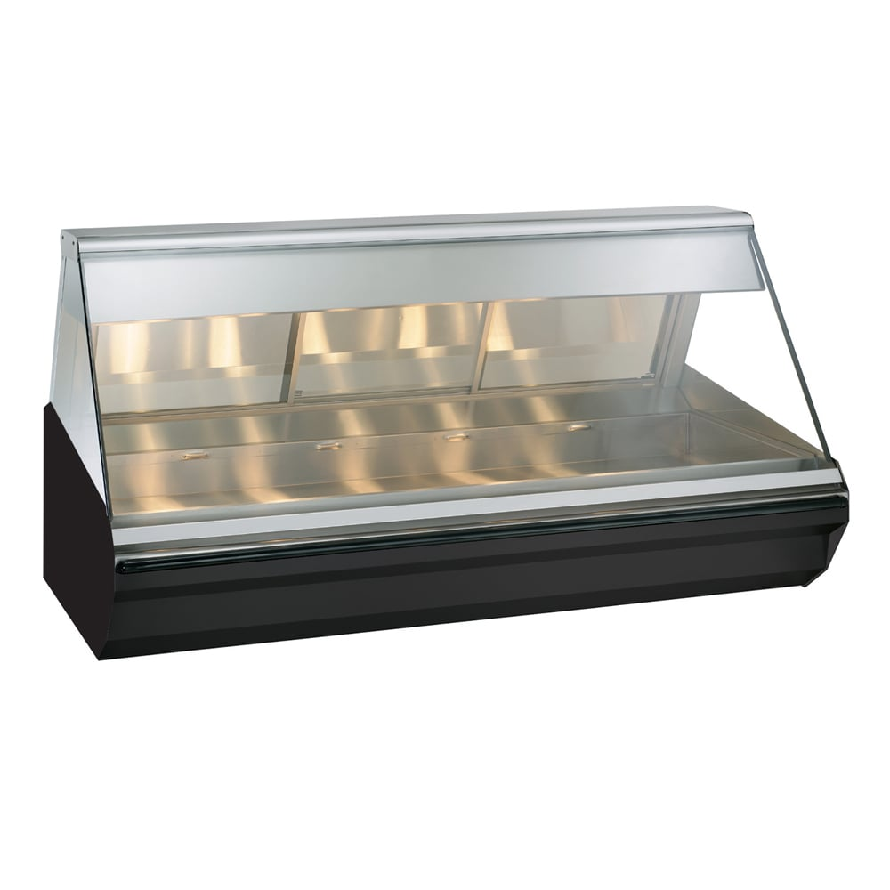 "Alto Shaam EC2-72-BLK 72"" Full-Service Countertop Heated Display Case - (1) Level, 120v/208 240v/1ph"