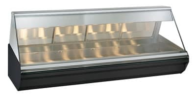 "Alto Shaam EC2-96-BLK 96"" Full-Service Countertop Heated Display Case - (1) Level, 120v/208-240v/1ph"