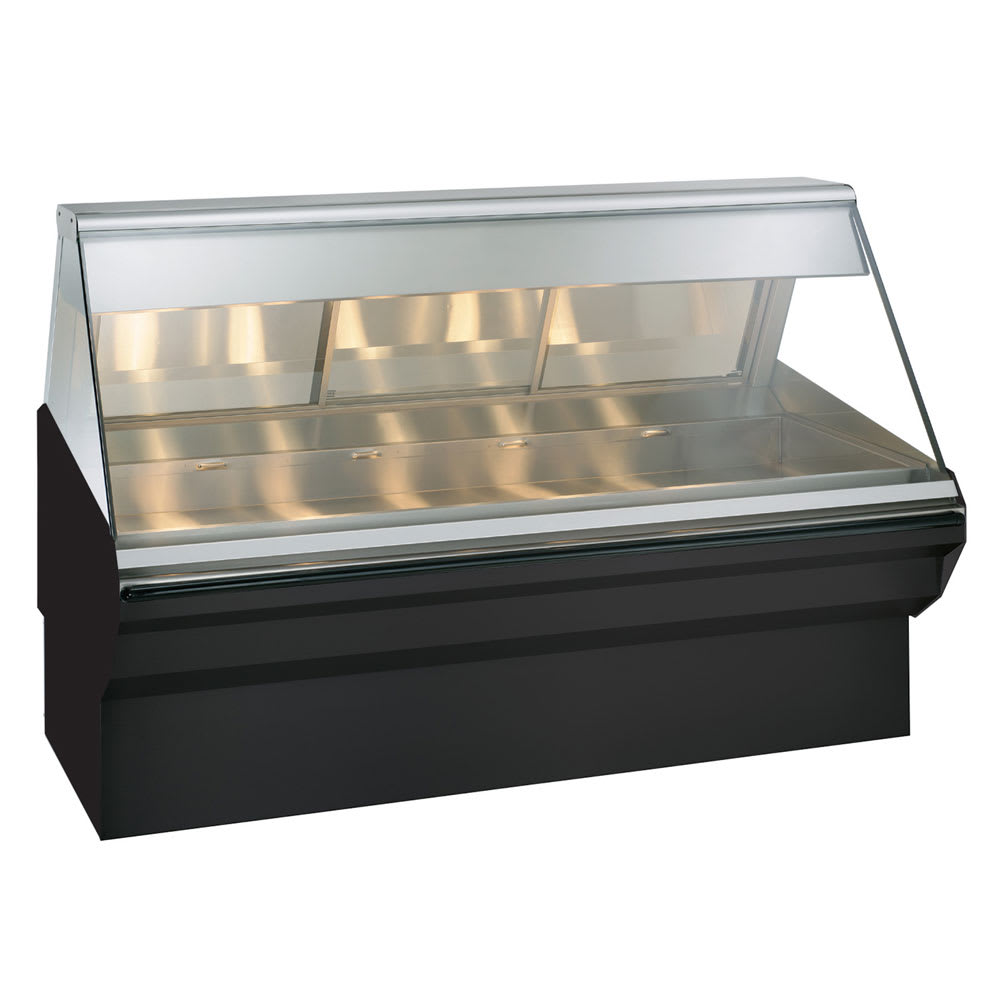 "Alto Shaam EC2SYS-72-BLK Full Service Heated Display Case, 72"", Black"