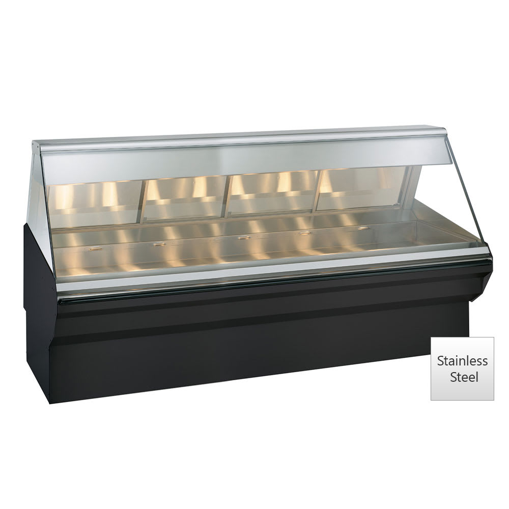 "Alto Shaam EC2SYS-96/PL-SS Self & Full Service Heated Display Case, 96"", Stainless"